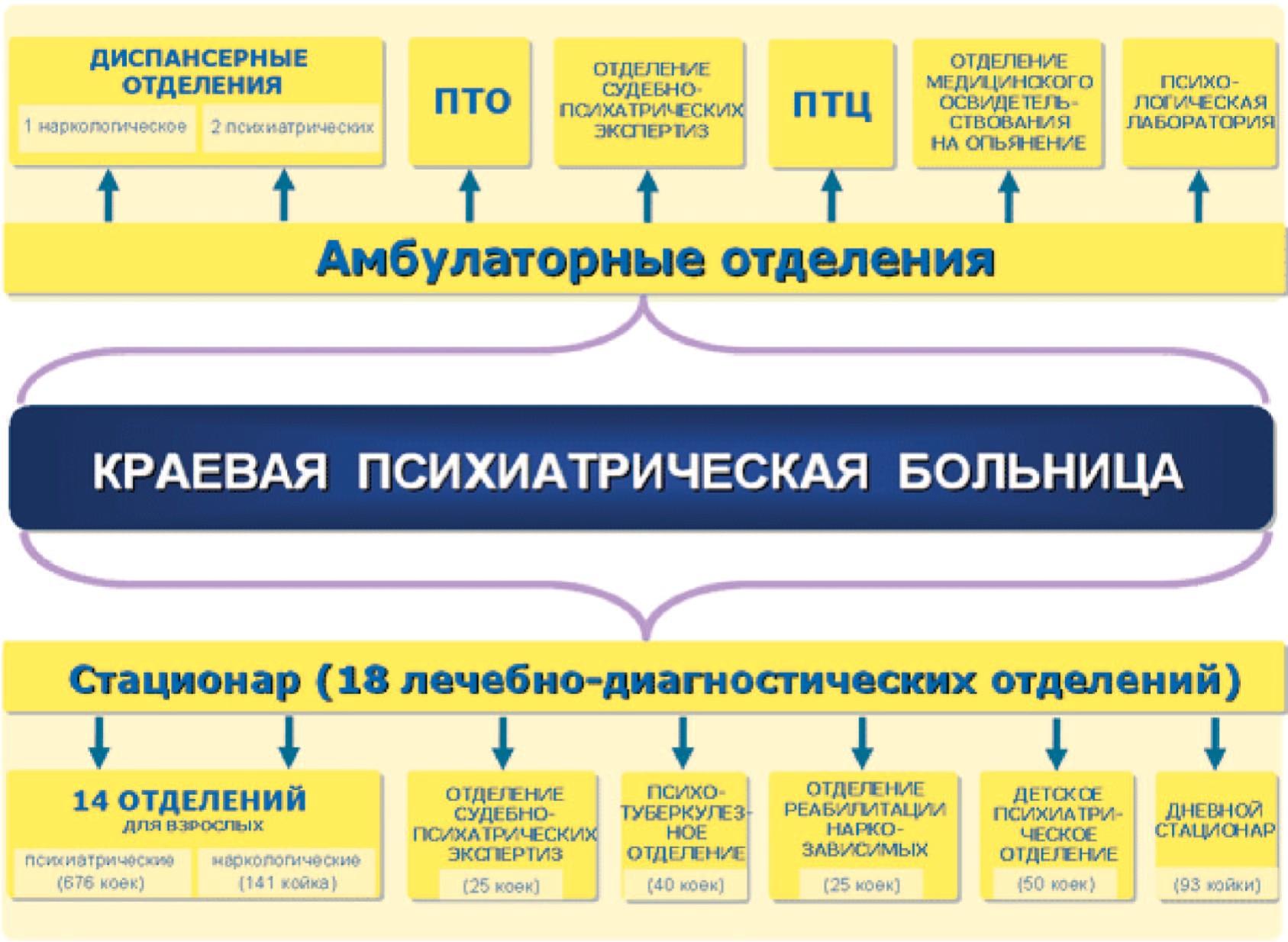 Структура региональной телепсихиатрической сети
